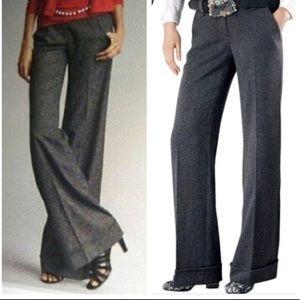 CAbi grey tweed wide legged trouser pant #230